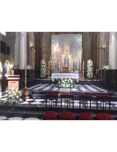 Adorno iglesia San Idelfonso