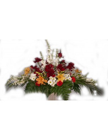 Centro Funeral de Rosas lilium y...