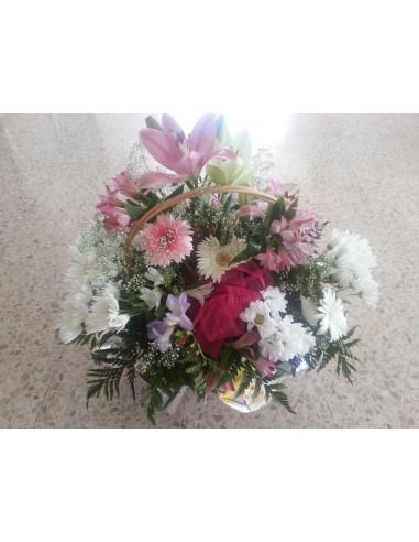 Cesta Flores Primaveral 2