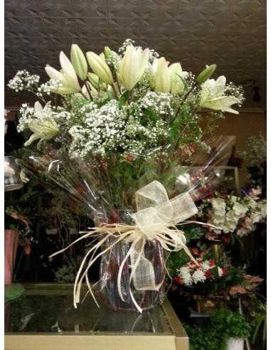 Ramo de Lilium blanco
