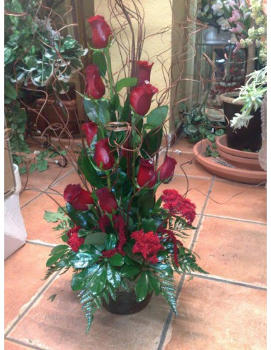 Centro de 12 rosas