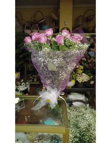 Docena de Rosas Color especial lila...